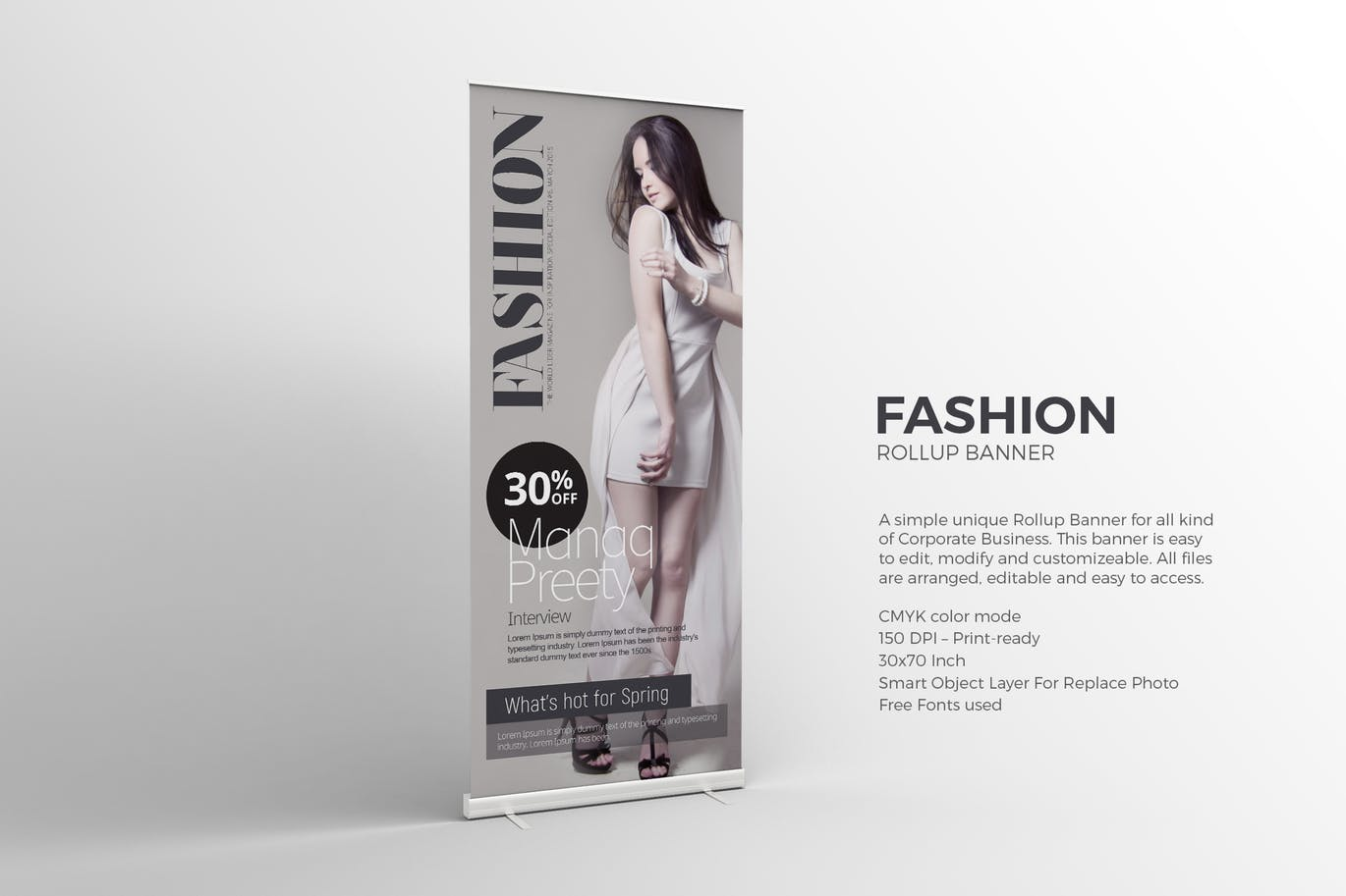Fashion Roll-up Banner graphix_shiv_BILMODESIGN
