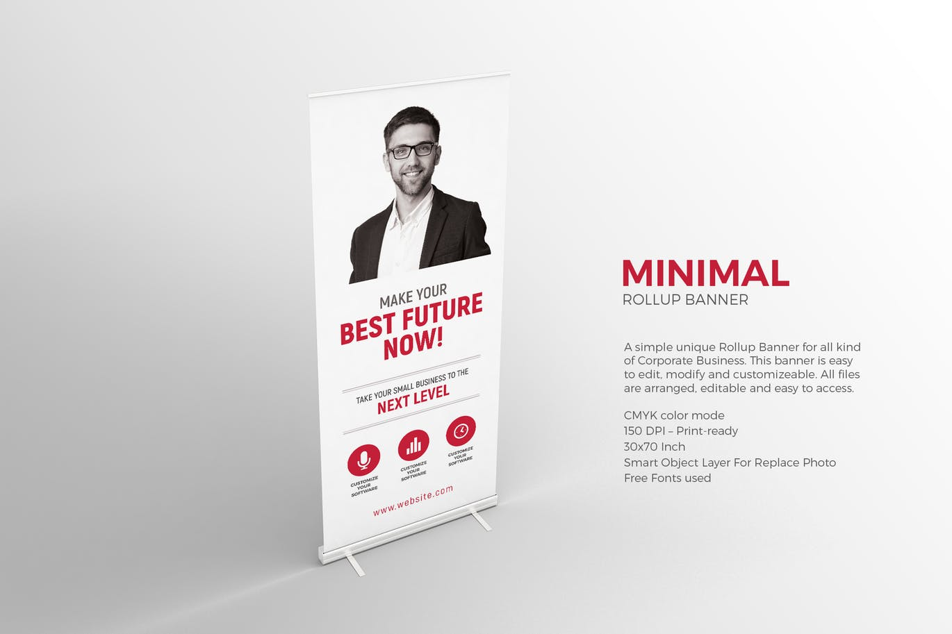 Minimal Roll-up Banner graphix_shiv_BILMODESIGN